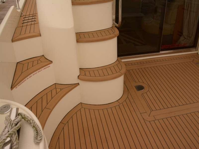 Synthetic teak marine decking