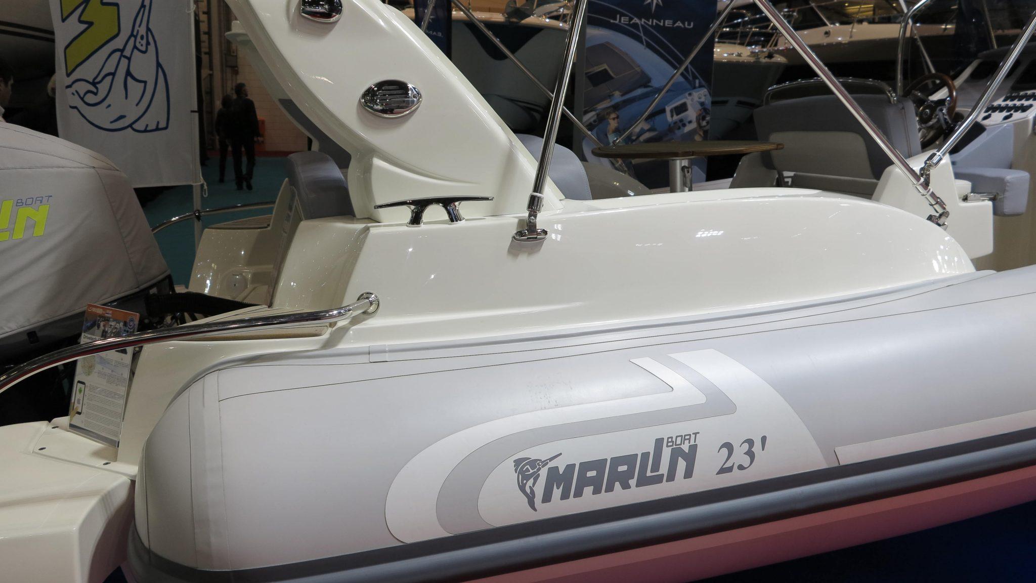 Synthet6ic teak on a Marlin RIB